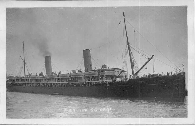 Passenger vessel in port