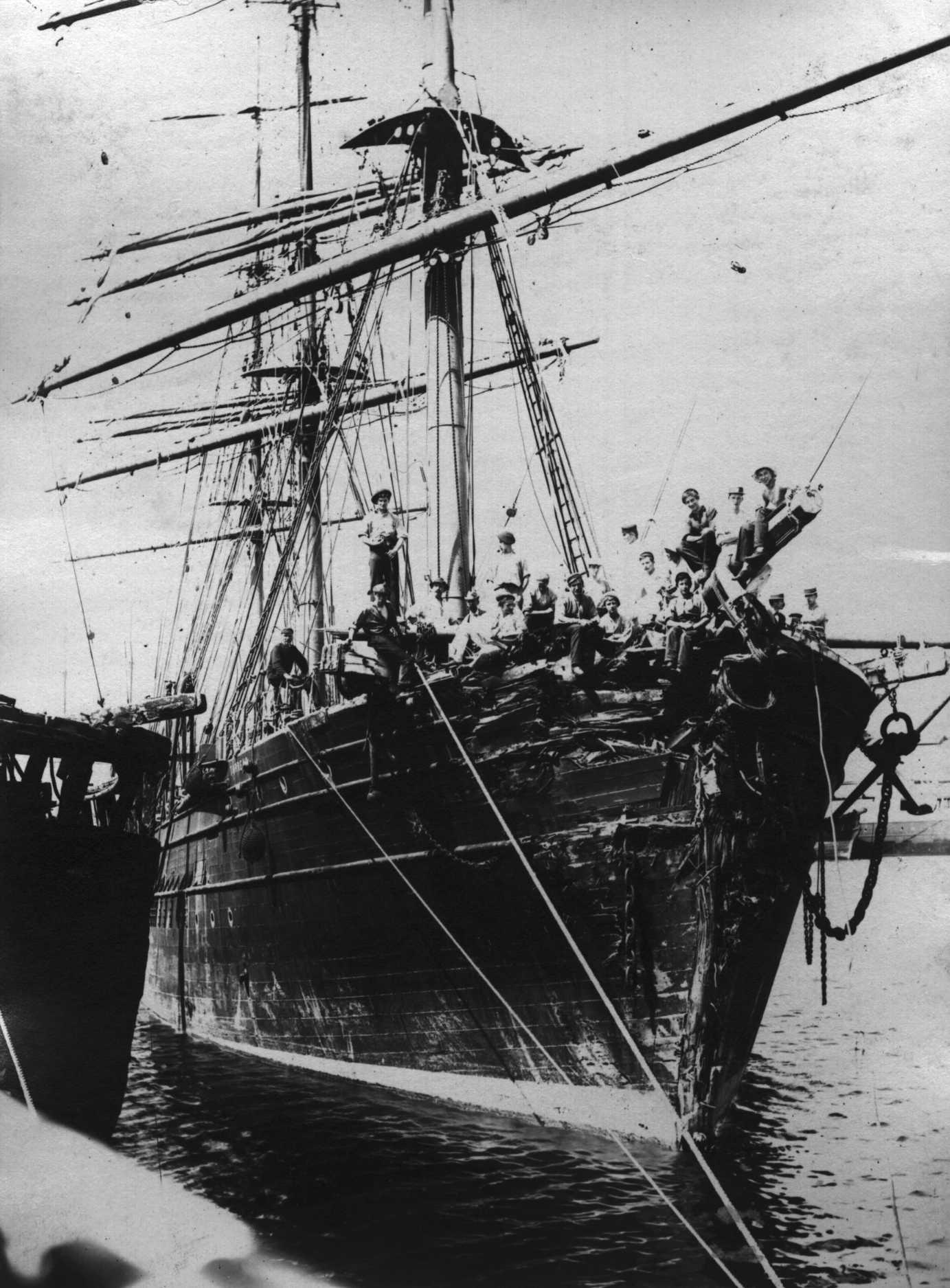 Damaged in Port Adelaide, 1899 after colliding with an iceburg.