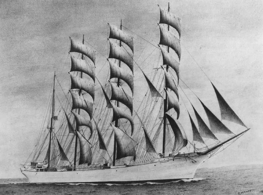 Drawing of the 1897 barque.