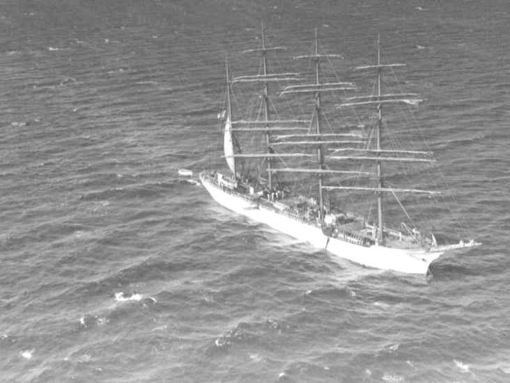 Barque at anchor