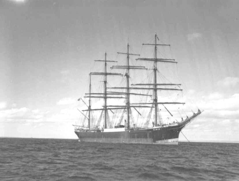 Barque at anchor