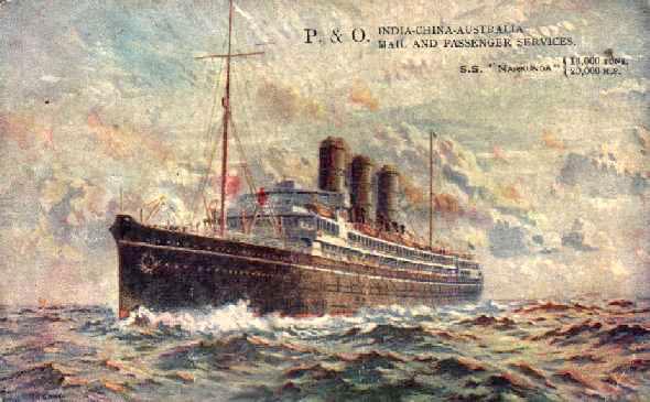 1918 passenger vessel at sea