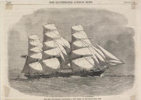 Image: Iron clipper ship