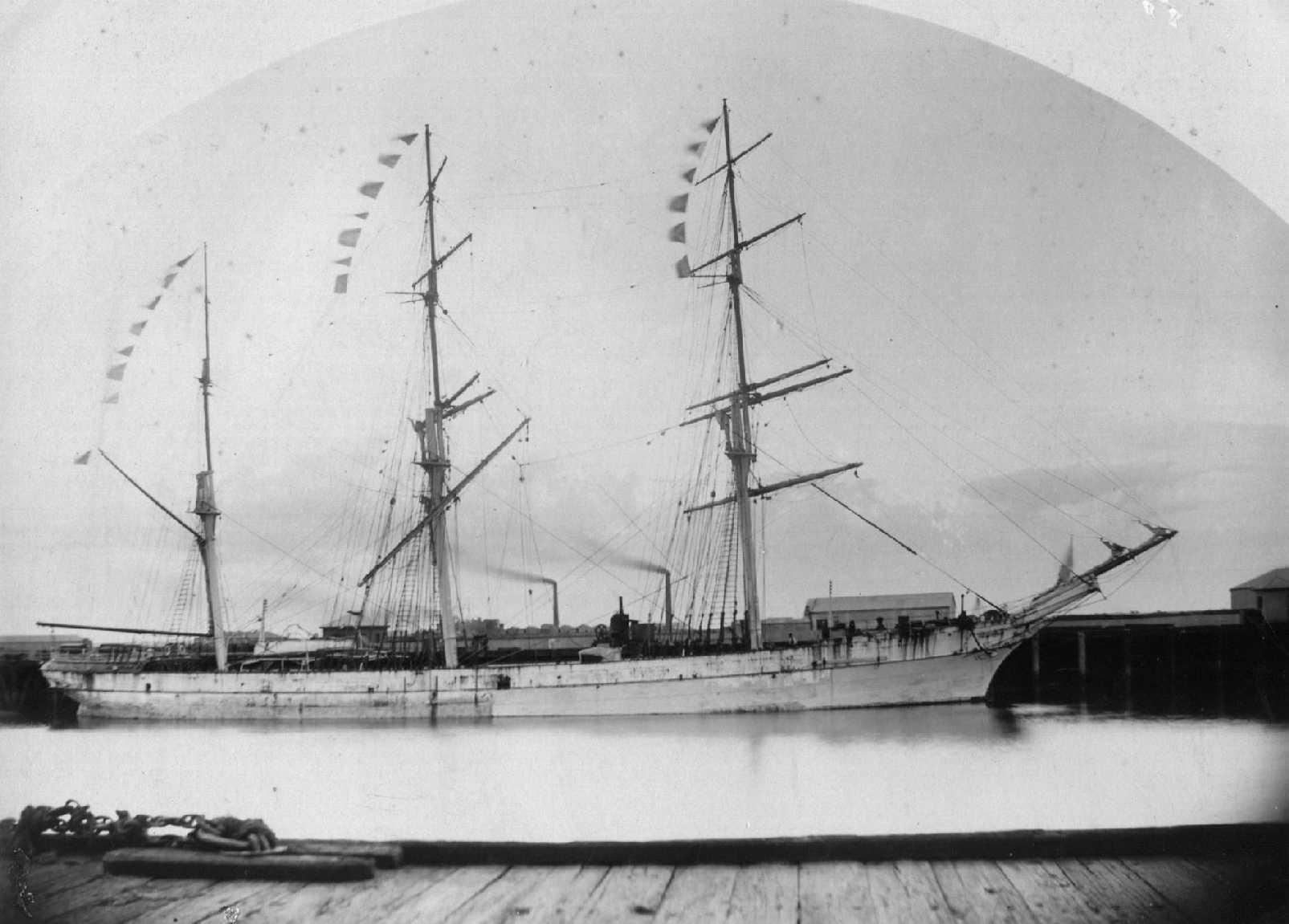 Image: Three masted composite ship