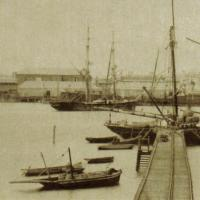 Berthed at Port Augusta, 1884.