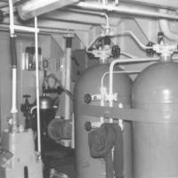 Interior of engine room.