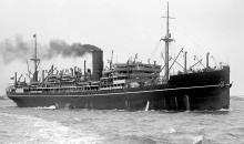 """Passenger Vessel """"Balranald"""", launched on 24 February 1921 and completed in April 1922, she took her maiden voyage on 20 April 1922 from London to Sydney.  Built by Harland & Wolff, Greenock, Scotland. Base Port:  London Gross Tonnage:  13039 Dimension"""