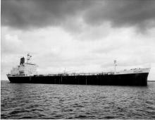 Oil tanker weighing 16005 gross tons and built at Whyalla in 1968 by Whyalla ship building and Engineering Works.  Owned by Shell International Marine Ltd and employed in coastal petrochamical.  Official Number 317787.  This image taken whilst vessel unde