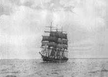 1891 Barque off Melbourne Heads in 1918