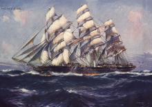 1869 passenger vessel at sea