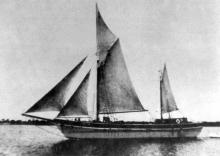 """""""Ketches of South Australia"""" by Ronald Parsons describes """"Betty Joan"""" as a 78 gross ton vessel with auxillairy engines which reach 5 knots.   Built by A McFarlane & son, Birkenhead in 1933, she was owned by M Irvine and MB Crouch.   During world war 2, ve"""