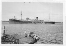 """Passenger Vessel """"Wairangi"""", built in 1942 by Harland & Wolff as """"Empire Grace"""" for the Ministry Of war Transport.  The vessel was fitted with 112 Tourist class berths as a war time measure.  She was bought by Shaw Savill Line in 1946 and renamed """"Wairang"""
