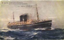 """Passenger vessel """"Maloja"""", launched 19 April 1923 and completed in October 1923.  Built by Harland & Wolff - Belfast, Northern Ireland.  This vessel made her inaugural voyage on 18 January 1924 from London - Sydney.  The vessel was owned by P & O Steam na"""
