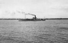 No. 4 Dredge (Sarnia) leaving for Brisbane. 16/4/1925