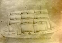 In full sail.