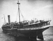 1902 passenger vessel. This image shows vessel landing troops.