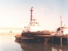 Built in 1983 by Tamar Ship building Pty Ltd - Launceston.  427 gross ton,  Owned by Adelaide Steamship Industries Pty Ltd, Port Adelaide SA.   Speed 13.25 knots. Official Number 850473. .   Speed 13.25 knots. Dimensions - length 32.31, breadth 10.90