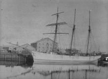 """Barque, """"Maile"""", built in 1884 at Auckland, New Zealand, by Lane & Brown."""
