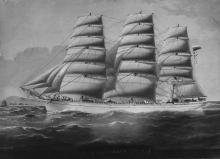 1876 ship under sail.
