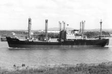 """Gross tonnage 4116.  Built in 1960 by Evans Deakin & Co Pty Ltd In Brisbane.  Owned  by The Adelaide Steamship Co ltd. Dimensions - length 340'10"""", breadth 52'7"""", draught 22'1"""" Port of registry:  Melbourne Flag:  British"""