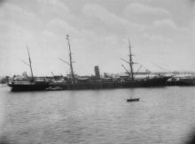 """General cargo vessel """"Port Pirie"""", steel screw steamer built in 1886 by R.W. Hawthorn Leslie & Co Ltd. - Newcastle.  Owned by Ang-Australasian S.N.C. (Ltd).  Official Number:  91932 Tonnage:  3109 gross, 2040 net  Dimensions:  length 353'5"""", breadth 3"""