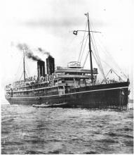 """Passenger vessel """"Morea"""", built in 1908 by Barclay & Curle & Co Ltd - Glasgow.  This vessel was launched on 15 August 1908 and completed in November 1908.  She took her inaugural voyage on 4 December 1908 from London to Sydney.  Owned by P & O Steam Navig"""