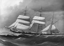 """Barque, """"Beeswing"""", Captained by Robert Griffiths."""