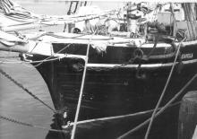 Ketch moored.