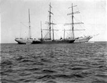 """Steel Barque """"General de Sonis"""", built in 1901  in Nantes by Chnt, Nantais De Const. Mar.  Owned by Soc. Nouvelle D'Armement.  Tonnage:  2190 gross, 1943 net Dimensions:  length 277'5"""", breadth 40'4"""", draught 22'7"""" Port Of Registry:  Nantes Flag:  Fr"""