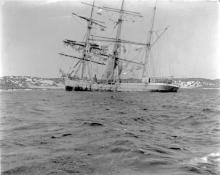 This image shows vessel ashore on Wardang Island in 1912 .