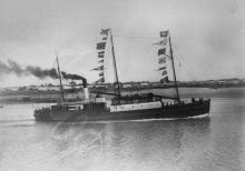 Built 1876 at Auckland by McQuarrie and McCallum for A. McGregor.  Official No. 70362.  163 gross tons, length 114 ft. x breadth 20 ft. x depth 7 ft.  Acquired by A.W. Sandford & Co. in July 1898 who put her on the West Coast run in 1899 and switched her