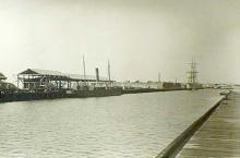 Berthed at Port Adelaide, August 1914.