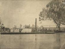 Paddle Steamer at Mannum.