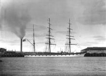 1875 barque moored at Port Adelaide.
