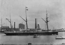 1887 naval vessel, at Port Adelaide.