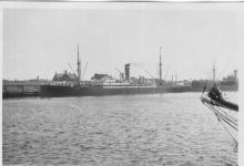 General cargo vessel berthed