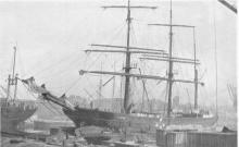 Barque in Regents Canal Dock