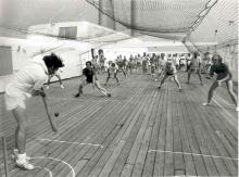 Passenger vessel - deck cricket