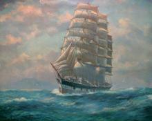 1885 barque undersail.