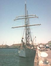 Berthed at Port Adelaide, 24/12/1987.