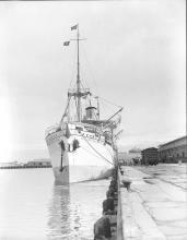 Passenger vessel at No. 2 Quay, Port Adelaide
