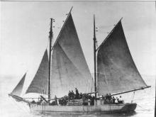 Ketch under sail