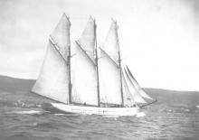 """Ronald Parsons' book """"Ketches of South Australia"""" describes """"Rooganah"""" as a Schooner built in 1909 by John Wilson in Port Cygnet, Tasmania.  Official number 124540.  In the 1920's the vessel was acquired from owners H Jones & Co of Hobart by G Loveder of"""