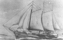 """Composite steel and wooden 3 masted schooner.  Built in 1948 by RM Crouch at Port Adelaide.  Owned by Reginald M Crouch, later Jillian Crouch Pty Ltd.  Vessel was sold in 1968 for further use in the Bass Strait trades and was renamed """"Lady Jillian"""" in Jun"""