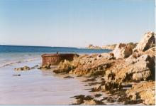 Passenger cargo vessel boiler on KI Beach