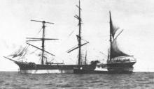 Steel 3 masted Barque, built in 1900 by Ailsa S/B Co.  Vessel was bought from J Hardie & Co, Glasgow for 2,650 pounds for service in the fleet of Gustagf Erikson from 1924 to 1940.  She was sunk by enemy action in August 1940. Tonnage:  3050 deadweight,