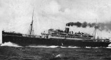1913 passenger vessel at sea