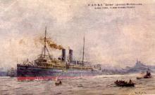 1896 passenger vessel under way