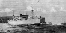1928 cargo vessel under way