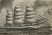 Image: Three masted ship in full sail